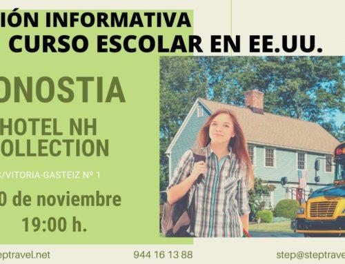 Sesión  informativa  Curso  Escolar  –  Donostia